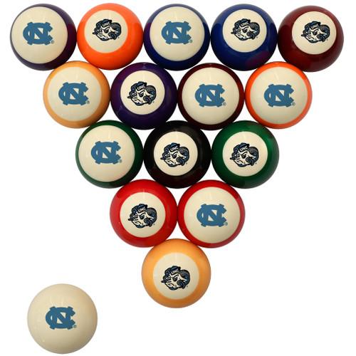 North Carolina Tar Heels Billiard Ball Set - Standard Colors