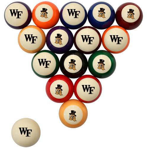 Wake Forest Demon Deacons Billiard Ball Set - Standard Colors