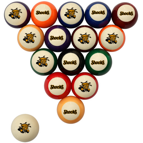 Wichita State Shockers Billiard Ball Set - Standard Colors