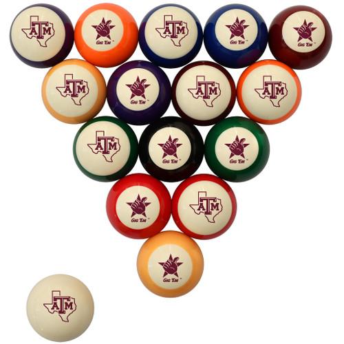 Texas A&M Aggies Billiard Ball Set - Standard Colors