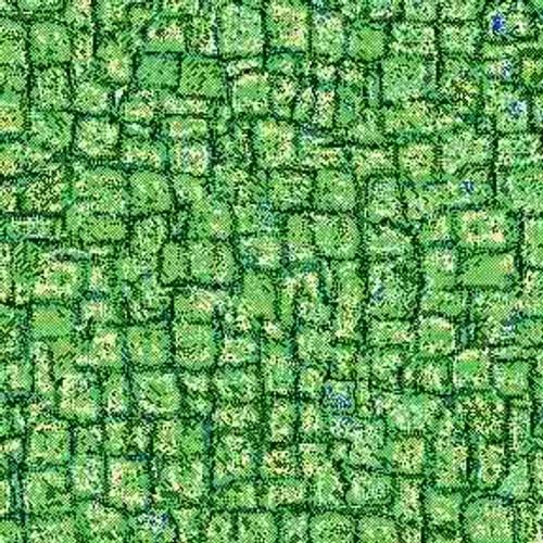 Green Mosaic 7' ArtScape Pool Table Felt