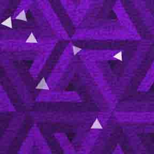 Purple Triangles 7' ArtScape Pool Table Felt
