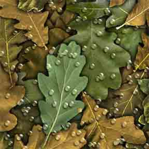 Oak Leaves 7' ArtScape Pool Table Felt