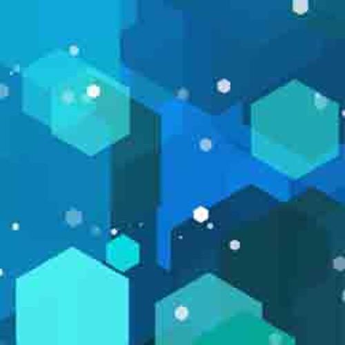 Blue Hexagons 7' ArtScape Pool Table Felt