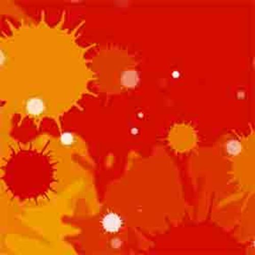 Red Burst 8' ArtScape Pool Table Felt