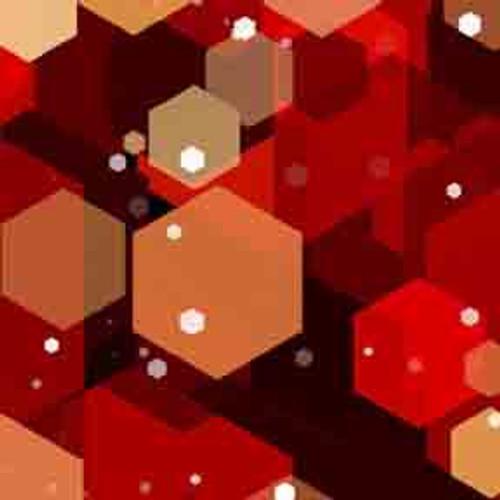 Red Hexagons 8' ArtScape Pool Table Felt