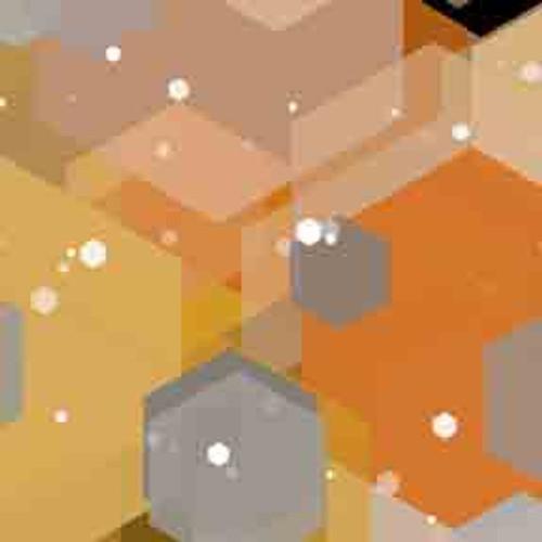 Gold Hexagons 8' ArtScape Pool Table Felt