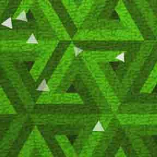 Green Triangles 9' ArtScape Pool Table Felt