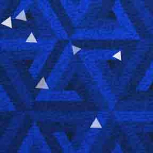 Blue Triangles 9' ArtScape Pool Table Felt
