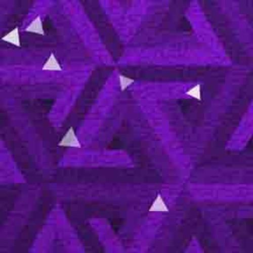 Purple Triangles 9' ArtScape Pool Table Felt
