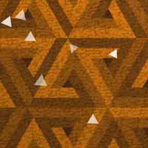 Gold Triangles 9' ArtScape Pool Table Felt