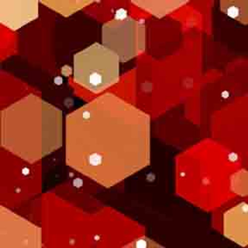 Red Hexagons 9' ArtScape Pool Table Felt