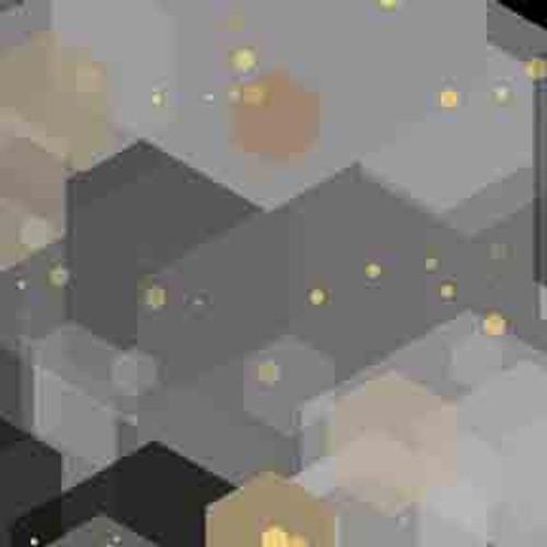 Silver Hexagons 9' ArtScape Pool Table Felt
