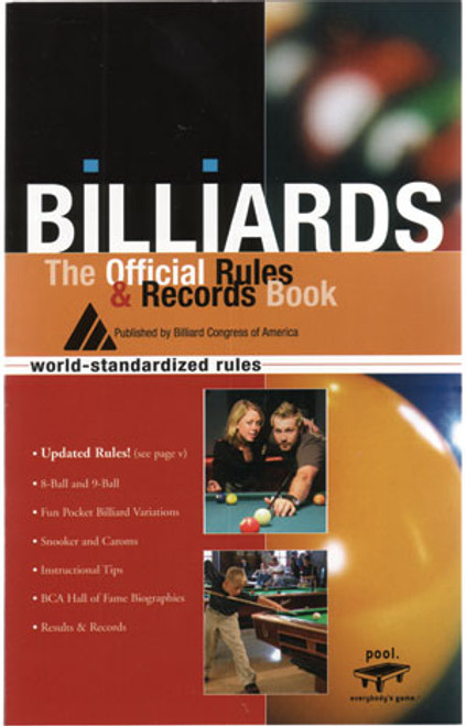 Official Rules and Records Book from the BCA
