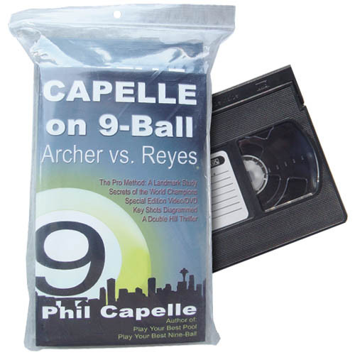Archer vs Reyes, Capelle on Nine Ball, Book and VHS