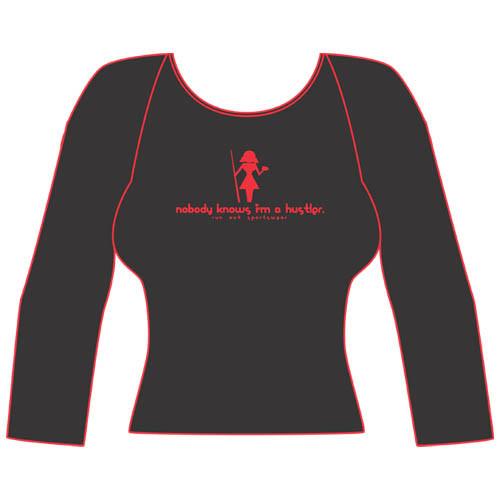 Hustler' Women's Long-Sleeve Tee Shirt from Run-Out