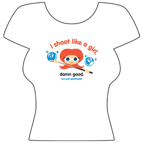 Shoot Like a Girl' Tee Shirt from Run-Out