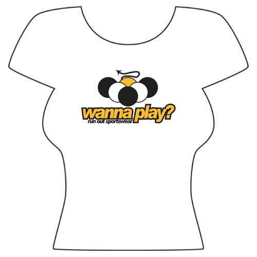 Wanna Play' Tee Shirt from Run-Out