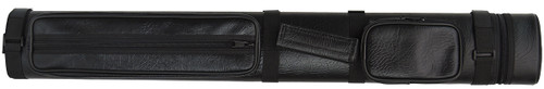 Black Hard Pool Cue Case for 2 Cues