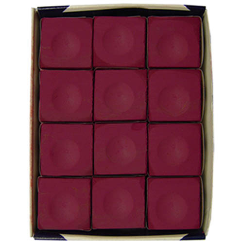 Burgundy Silver Cup Chalk, Dozen per box