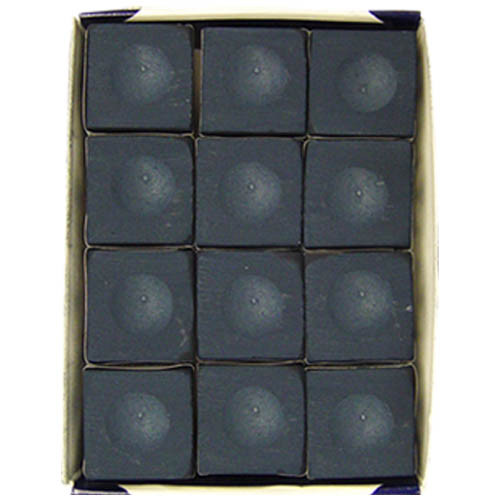 12 piece Silver Cup Pool Cue Chalk, Navy