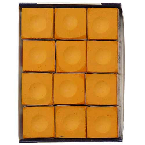 12 pc. Orange Silver Cup Pool Cue Chalk