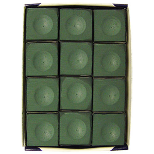Box of 12, Spruce Silver Cup Cue Chalk