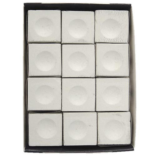 Silver Cup Chalk, White, 12-Piece Box