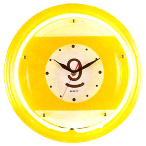 Large Neon Nine Ball Billiard Clock