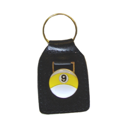 Leather Key Ring 9-Ball