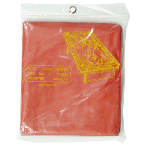 Red 9' Pool Table Cover