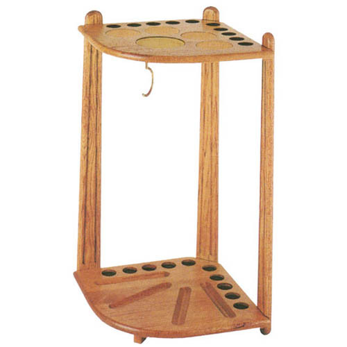Solid Oak Cue Rack, Holds Ten Cues