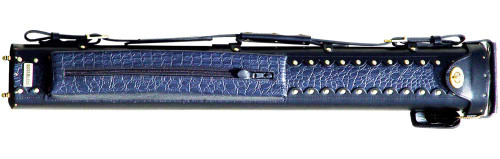 Black and Blue Leather Pool Cue Case
