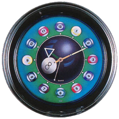 Neon Billiard Ball Clock