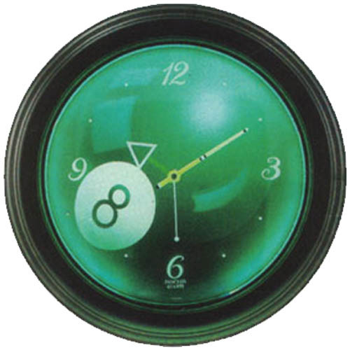 Neon Eight Ball Clock