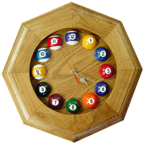 Octagon Pool Ball Clock