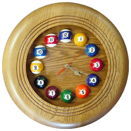 Circular Pool Ball Clock