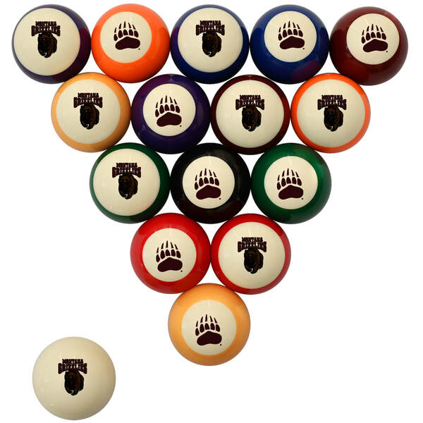 Montana Grizzlies Billiard Ball Set - Standard Colors