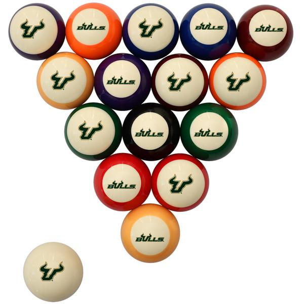 South Florida Bulls Billiard Ball Set - Standard Colors