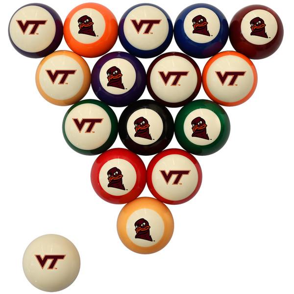 Virginia Tech Hokies Billiard Ball Set - Standard Colors