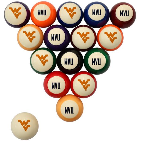 West Virginia Mountaineers Billiard Ball Set - Standard Colors