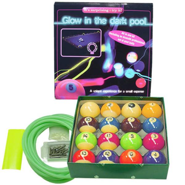 Black light pool ball set