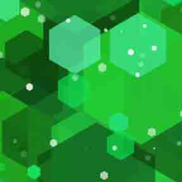 Green Hexagons 9' ArtScape Pool Table Felt