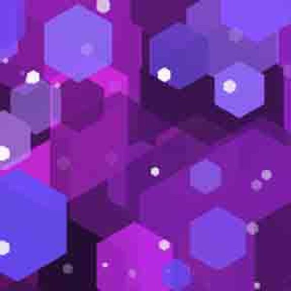 Purple Hexagons 9' ArtScape Pool Table Felt