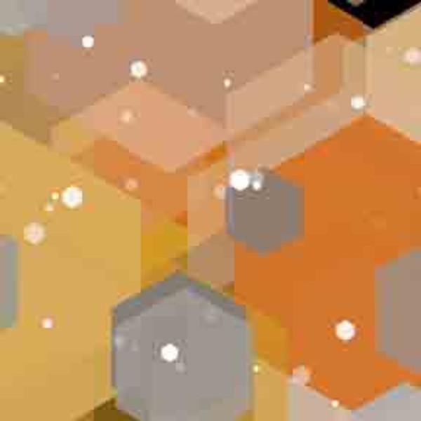 Gold Hexagons 9' ArtScape Pool Table Felt