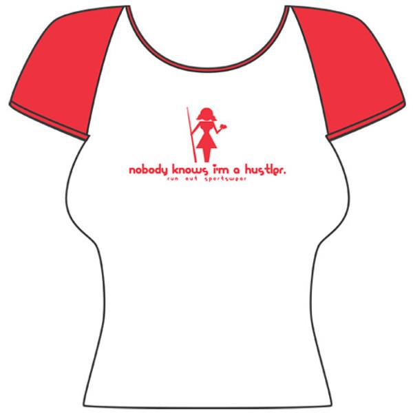 Hustler' Women's Tee Shirt from Run-Out