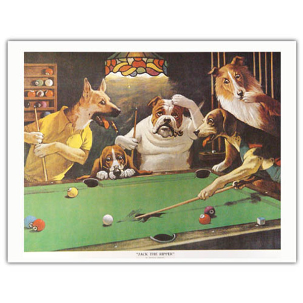 Pool Dog Print - Jack