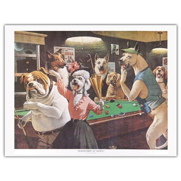 Pool Dog Print - Dawn