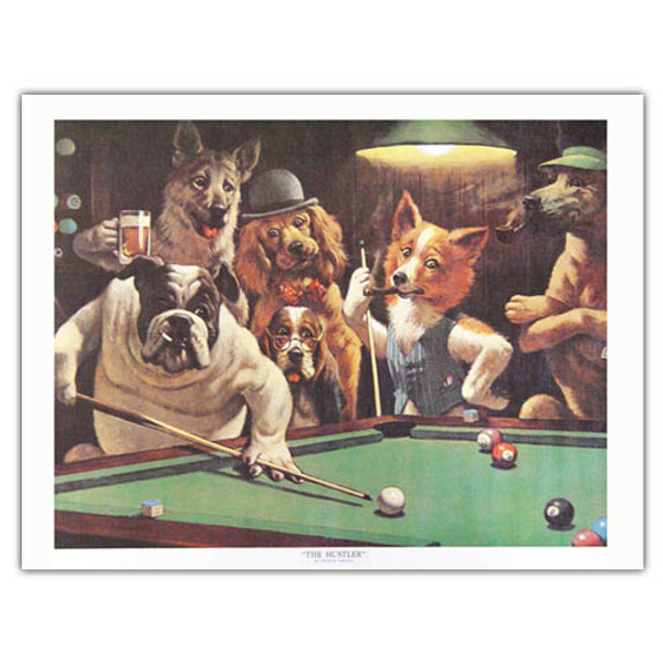 Pool Dog Print - Hustler