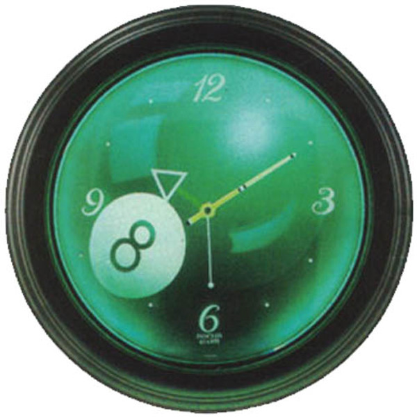 Neon Eight Ball Clock